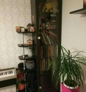 Тумба, книжный шкаф, две навесные полки