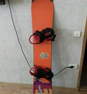 Сноуборд с креплениями BURTON