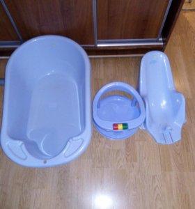Детская ванночка с горкой и стульчиком