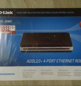 Маршрутизатор adsl2/2+4port d-link dsl-2540u