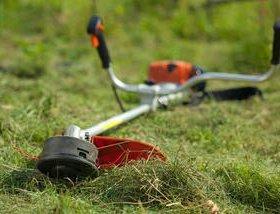 Покос травы stihl