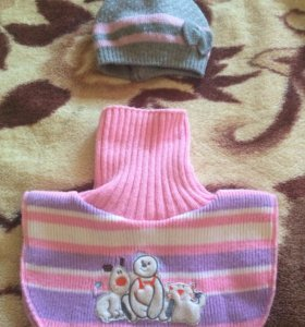 Шапка и шарф детские