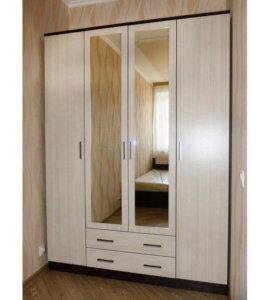 Шкаф с зеркалами, 4 двери/фиесста