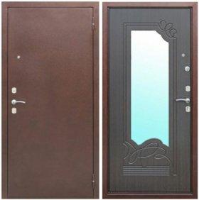 Входная дверь с зеркалом марина венге.