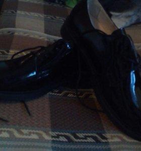 Туфли-лакированные военные