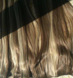 волосы на заколках💇