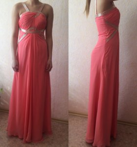 Платье вечерние, кораллового цвета