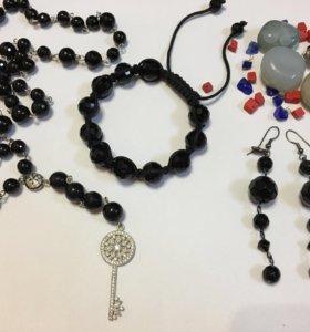 Комплект Розарий, браслет,серьги