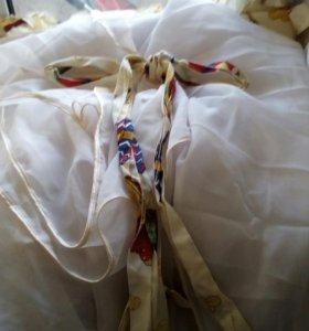 Бортики в кроватку+балдохин и подушка