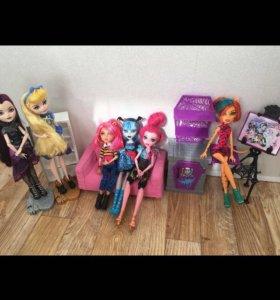 Куклы монстер хай и эвер афтер