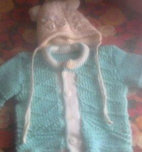 Детский свитер на пуговицах