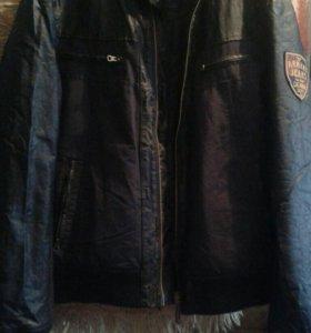 Кожанная куртка ARMANI JEANS