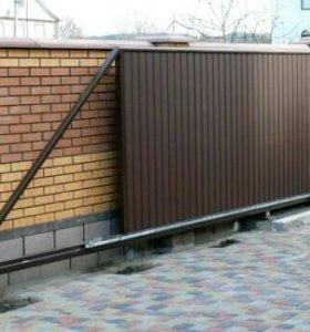 Автоматические откатные ворота (раздвижные)
