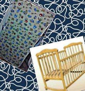 Детская кроватка и детский артопедический матрац