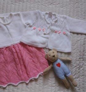 Платье трикотажное 74-80