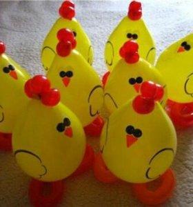 Цыплята из шаров