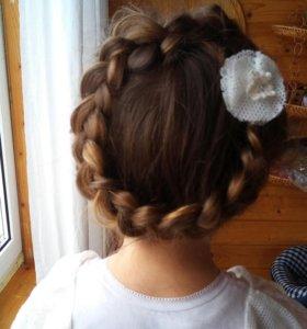 Плетение кос,детские косы, причёска на выпускной