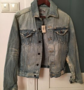 Abercombie Новая джинсовая куртка мужская S