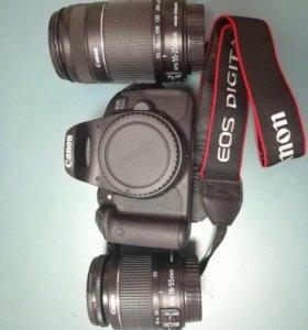 Canon EOS 650D kit два объектива