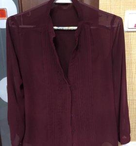 Рубашка цвета бордо