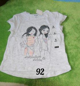 Новая футболка р.92