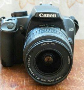 Зеркальный фотоаппарат Canon EOS 1000D Kit. Обмен.