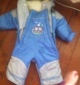 Комбенизон на мальчика осень зима очень теплый.