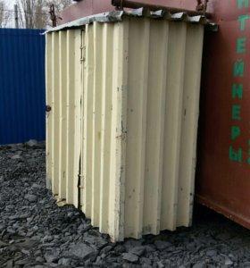 Металлический шкаф контейнер под склад