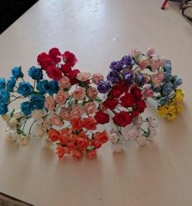 Цветы скрапбукинг