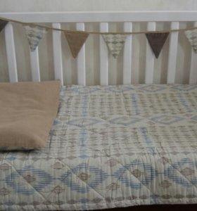 Пледы-покрывала в детскую кроватку