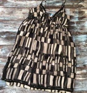 Платье 100% шёлк Oasis