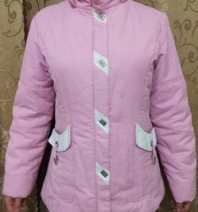 Куртка демисезонная розовая 42 44 размер