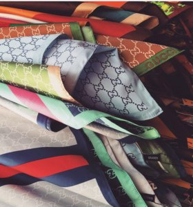 Шёлковые платки Gucci, KENZO 🐅
