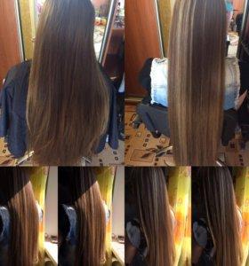 Все виды окрашивания волос))