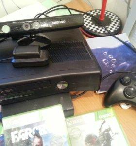 Xbox 360 250ГБ+кинект не прошит +лицензионные игры