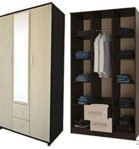 Шкаф 3х дверный Фиеста