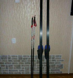 Лыжи+Ботнки 36р.+Палки(2пары)