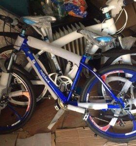 Велосипед БМВ синий