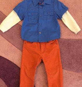 Брюки и рубашка, размер 86-92