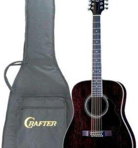 Гитара 12 струн. Крафтер с подключением.