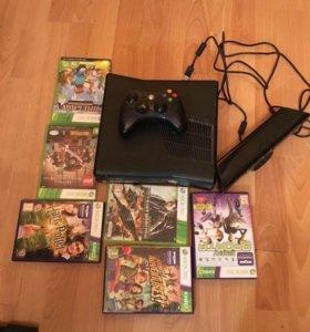 XBOX 360+Kinect 250 GB игры