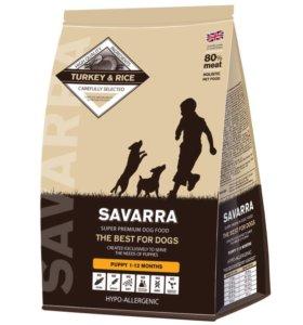Качественный корм для щенков SAVARRA