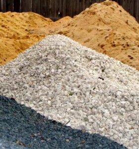 Песок, щебень, отсев, скальный грунт, бут.камень
