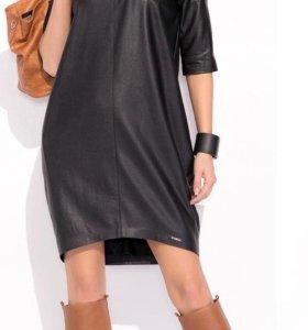 Кожаное платье 44, 46