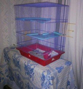 Трёхэтажная клетка для крыс