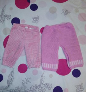 Штанишки и кофты на девочку 3-6 месяцев
