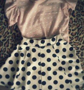 Юбочка и блуза-кофта