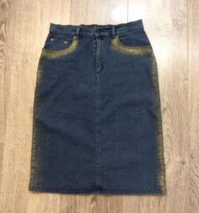 Стильная джинсовая юбка-46