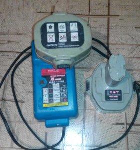 Зарядник с двумя акб для шуруповерта прогресс