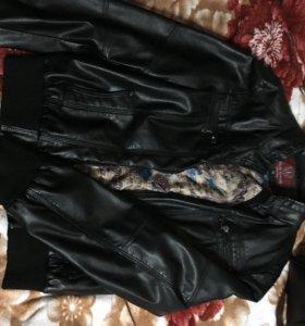 Кожаная куртка в отличном состоянии!